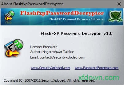 flashfxp密�a找回工具(FlashfxpPasswordDecryptor) v3.0 �G色免�M版 0